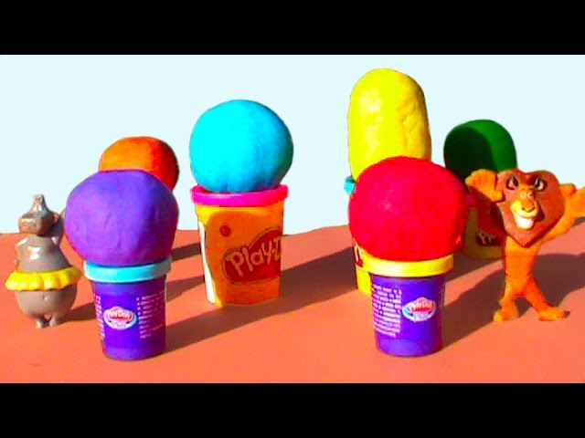 Мадагаскар Киндер сюрприз яйца ПлэйДо Play-Doh игрушки Madagascar Surprise eggs