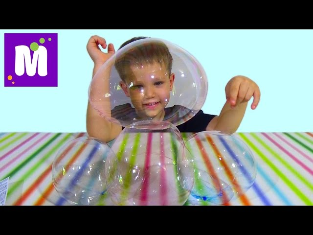 Пузыри из тюбика надуваем и играем Bubbles from the tube inflate and play
