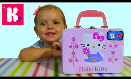 Хелоу Китти чемоданчик сюрприз распаковка Hello Kitty surprise box unboxing