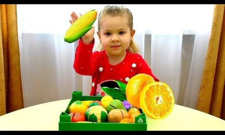 Learn colors, Fruits and Vegetables with Diana and toys for kids Video for toddlers