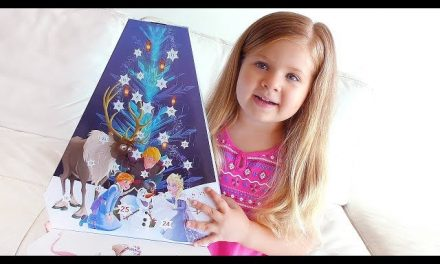 Diana Opens Advent Calendar «Olaf's Frozen Adventure» with fun Surprise toys for kids video