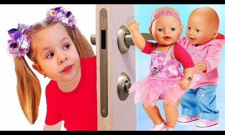 Diana Pretend Play with Baby Born Doll Video for kids Toys