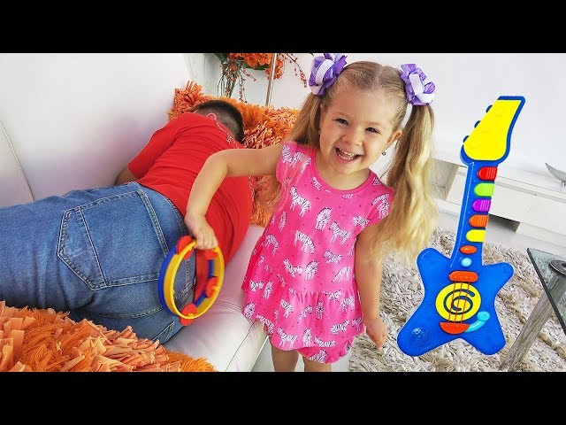 Diana Pretend Play with Musical Instruments Toys for Kids