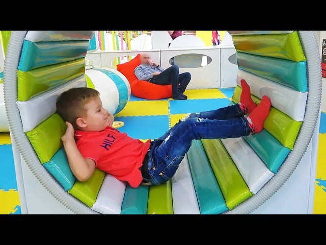 Roma plays at Indoor Playground for Kids Play Time