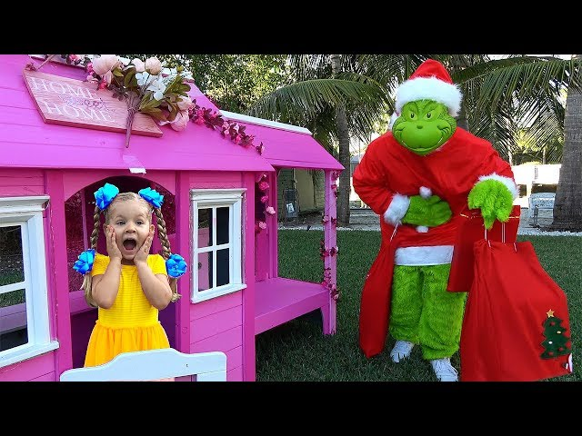 Diana and GRINCH who stole New Year's Presents