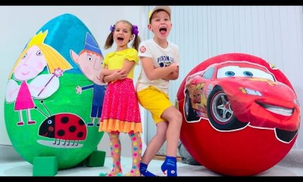 McQueen VS Ben and Holly's Little Kingdom Яйцо с игрушками / Giant Surprise egg