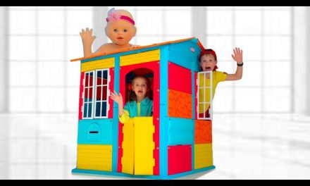 Max build a playhouse with friends