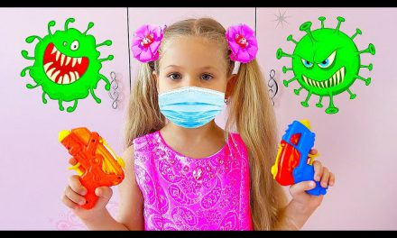 Diana and the Children's Story about viruses / Kids Stay at Home