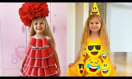 Diana makes a new Dress for Birthday — Cool DIY Ideas by Diana