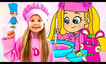 Diana and Roma Pretend Play Slime and Ice Cream Cartoon for Kids