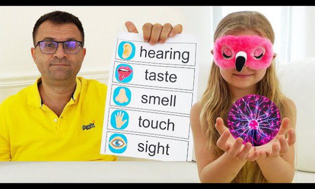 Diana and Roma learn about the five senses