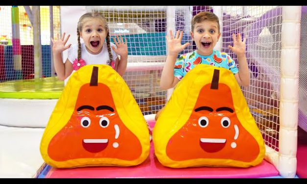 Roma and Diana Indoor Playground for kids with Inflatable Slides