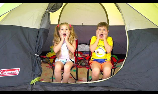 Diana and Roma 24 Hours Overnight In A Tent Challenge