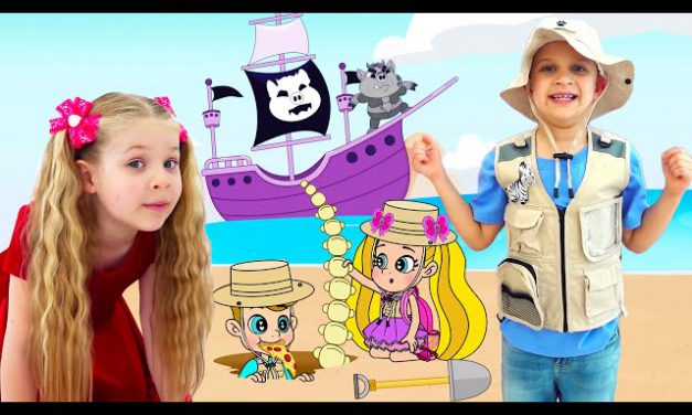 Roma and Diana Adventures in a Magical Cartoon World! Сompilation 3, Funny Cartoons for kids