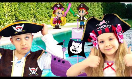 Diana and Roma DIY Boat Race! Rescued from Pirates by New Friend!