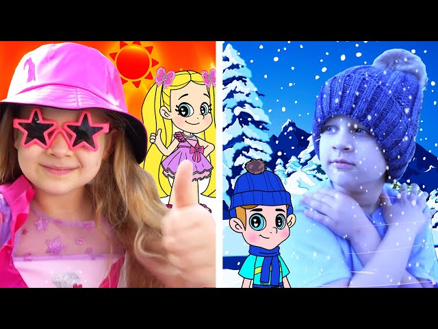 Diana and Roma NEW Hot Vs Cold Adventures in a Magical Cartoon World! Cartoon for Kids Compilation