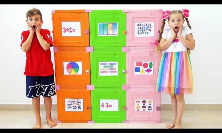 Diana and Roma Learn how to open toy boxes by solving Logic Games and Activities