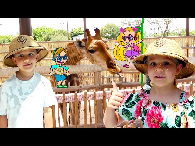 Diana and Roma Visit the Zoo and Talk to Animals!