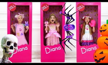 Diana Becomes a Doll for Halloween Adventure