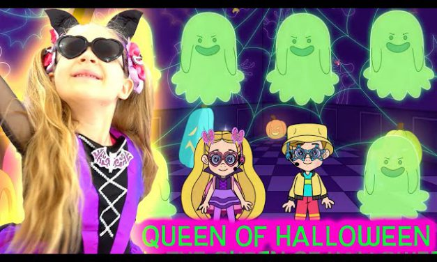 Diana and Roma Sing Along Music Video! «Queen of Halloween» with Lyrics!