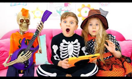 Diana decorates her room for Halloween & New Magic Music Castle